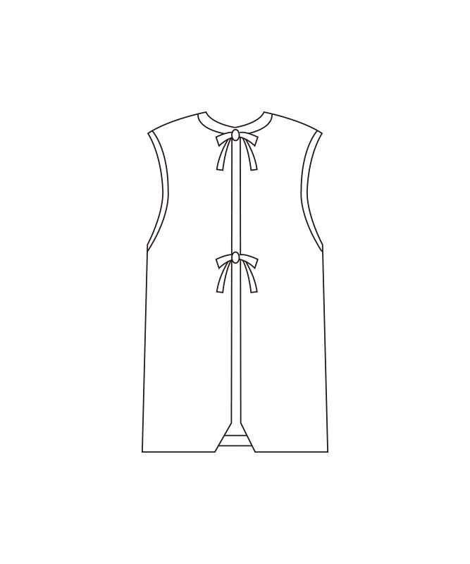 防水エプロン(袖なし)[KAZEN製品] 510-9