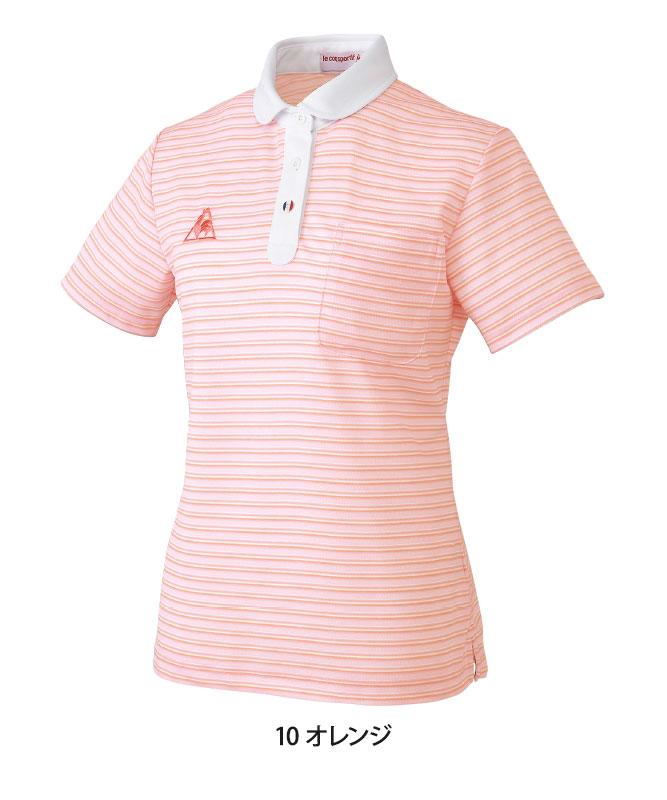ルコックスポルティフレディスボーダーニットシャツ半袖[lecoq製品] UZL8024
