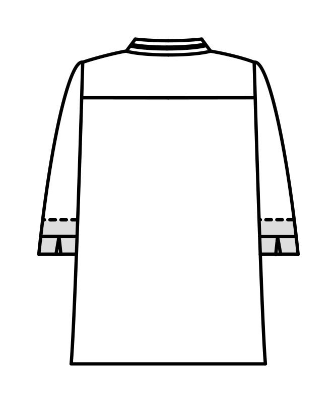 コックコート七分袖(袖口ネット付)[男女兼用][住商モンブラン製品] 6-43