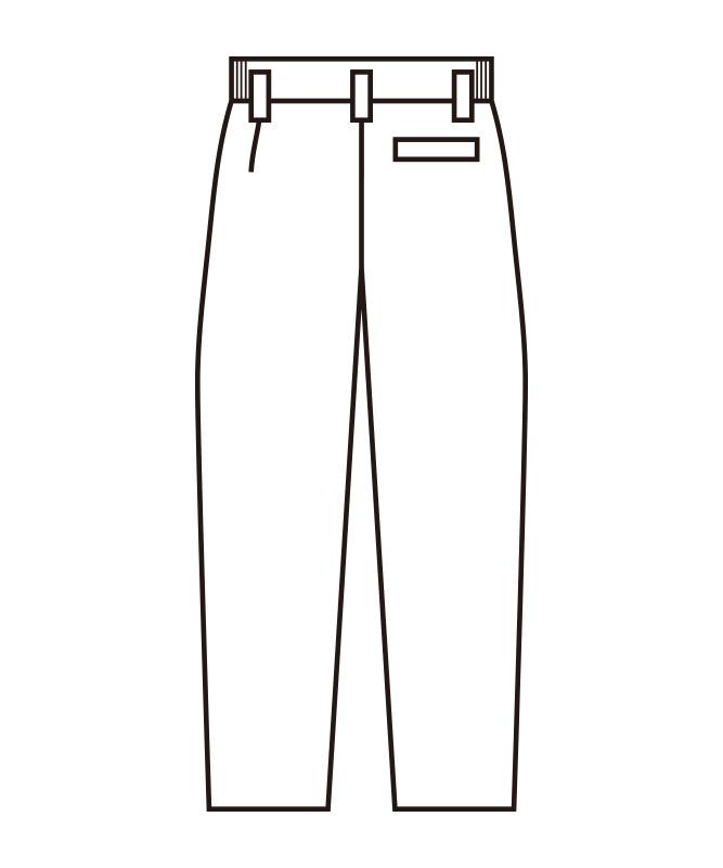 双糸ツイルメンズスラックス(股下フリー)[KAZEN製品] 430-49