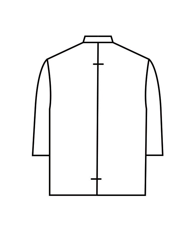 制電単糸ツイルコックコート七分袖[男女兼用][住商モンブラン製品] 6-931