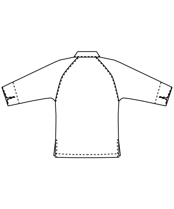 コックシャツ七分袖[男女兼用][チトセ製品] AS8321