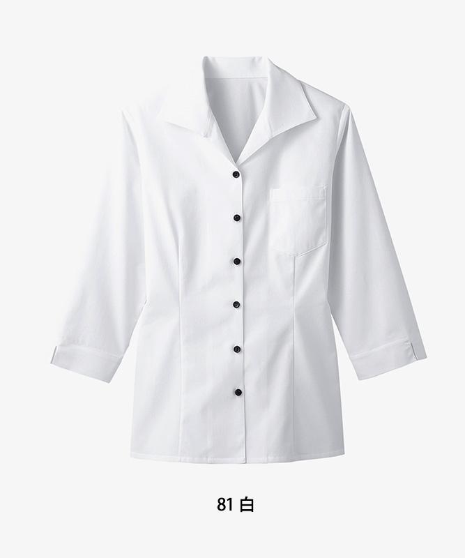 イタリアンカラーシャツ七分袖[女子][ボストン商会製品] 34208