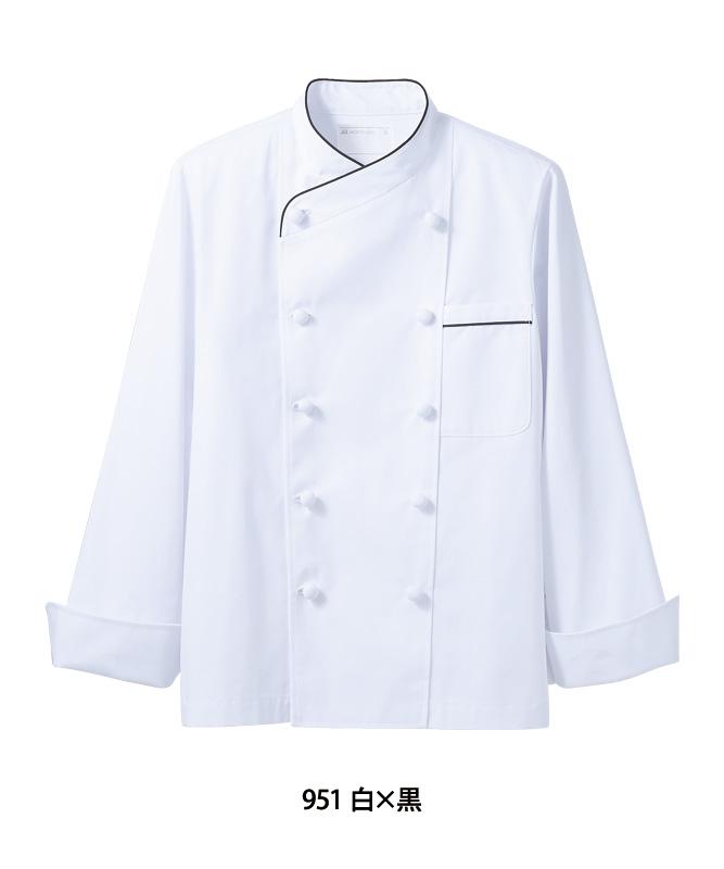 制電単糸ツイルコックコート長袖[男女兼用][住商モンブラン製品] 6-951