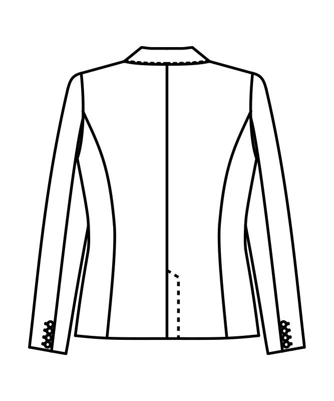 ジャケットレディス長袖(裏地付)[住商モンブラン製品] BM1001