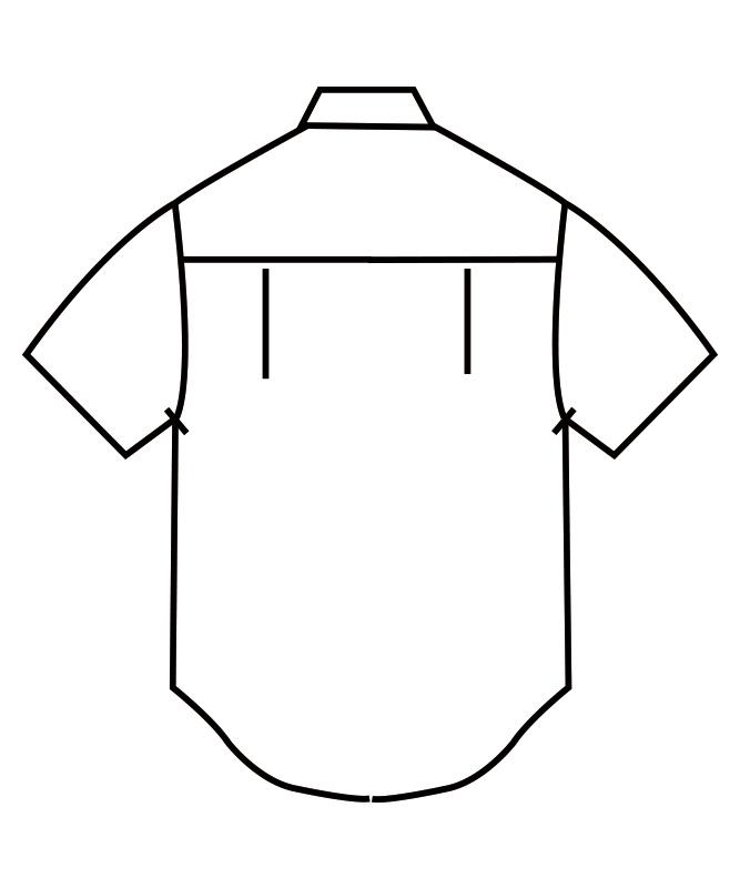 ブロードシャツ半袖[男女兼用][住商モンブラン製品] BS2542