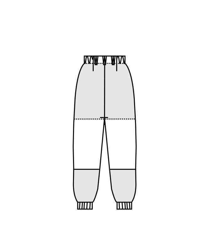 制電トリコットパンツ(ノータック・両脇ゴム)[男女兼用][住商モンブラン製品] ST7701