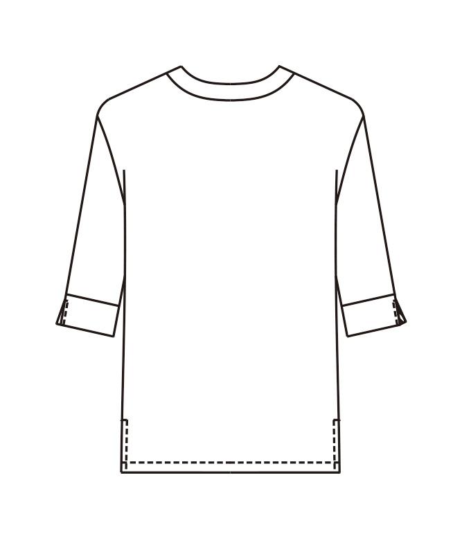 和風シャツ七分袖[男女兼用][ボストン商会製品] 44307
