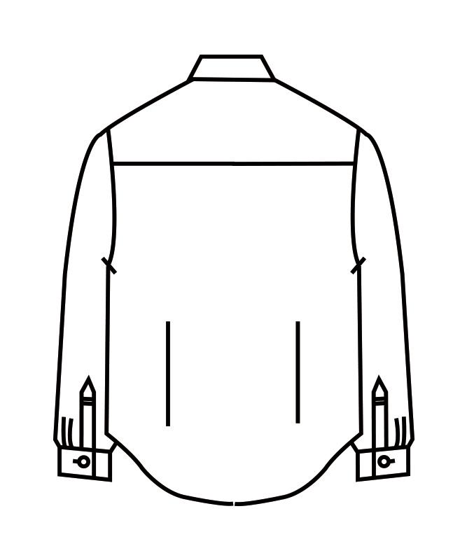 ウイングカラーシャツ長袖[男女兼用][住商モンブラン製品] BS2561-2