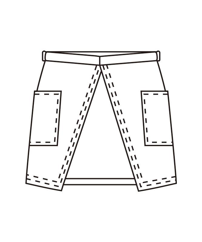 サロンエプロン(ストライプ)[KAZEN製品] APK492-S