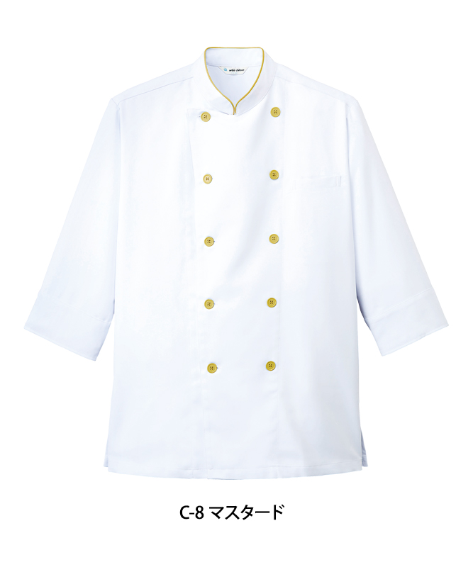 ストレッチツイルコックシャツ七分袖[男女兼用][チトセ製品] AS7804