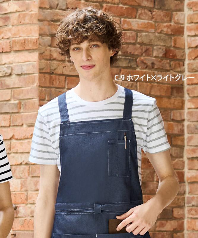 ボーダーTシャツ半袖[男女兼用][チトセ製品] AS8546