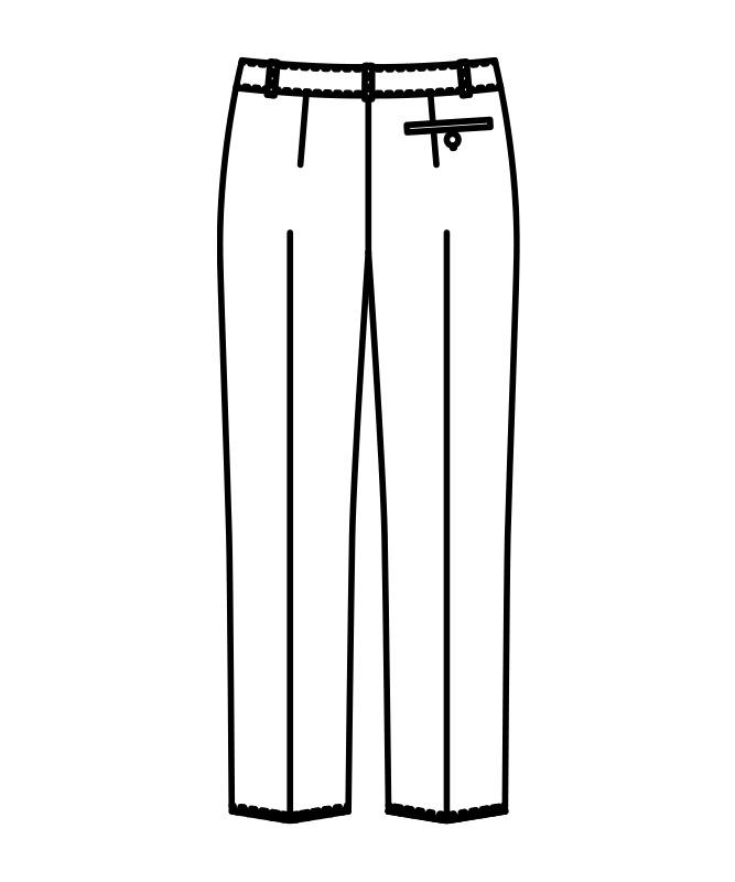 パンツレディス(ノータック・裏地付)[住商モンブラン製品] BM7001