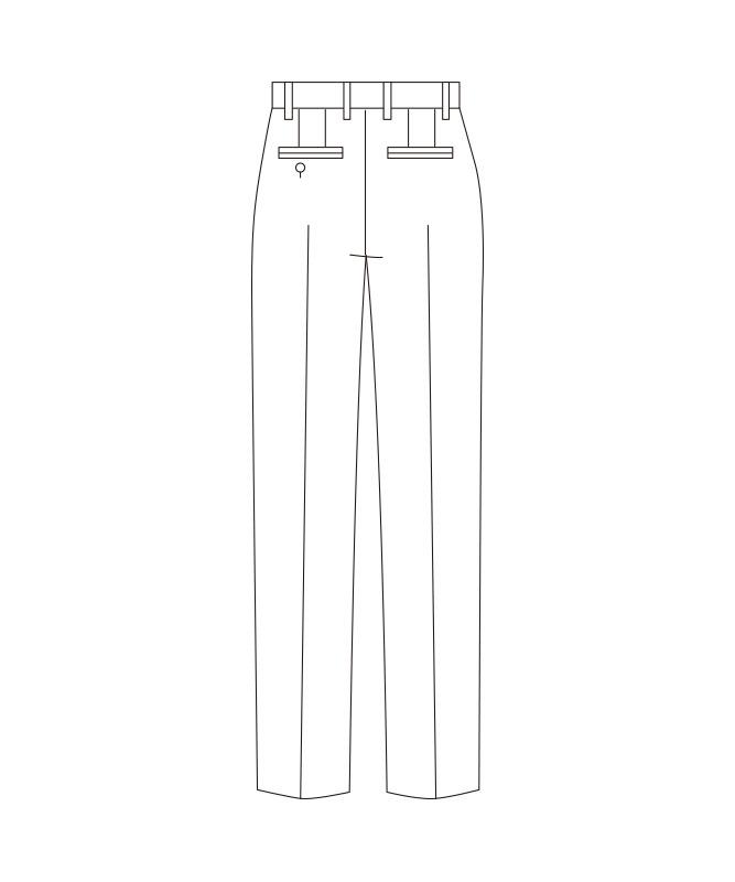 パンツ(ノータック)[男子][チトセ製品] KM8383