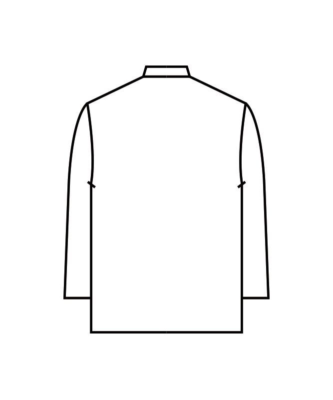 調理シャツ長袖[男女兼用][住商モンブラン製品] 2-395