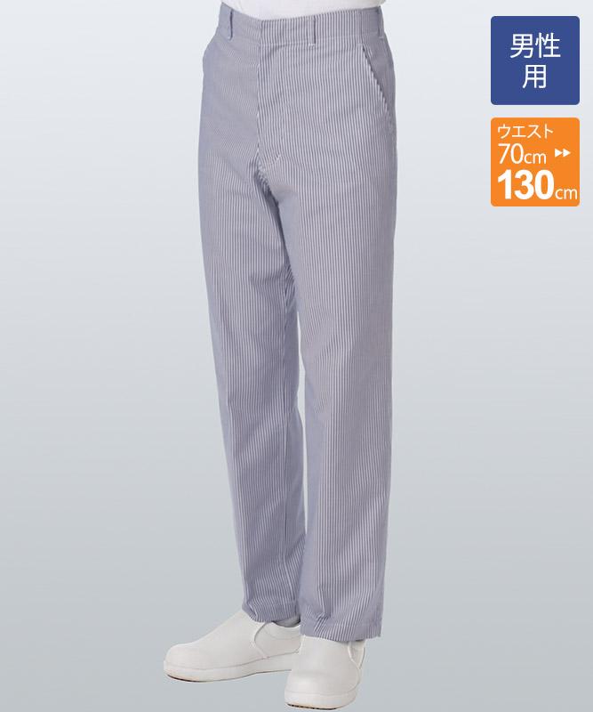 デニムメンズスラックス(ストライプ)[KAZEN製品] 435-99