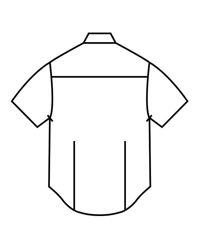 ブロードシャツ半袖[男女兼用][住商モンブラン製品] BS2592-2