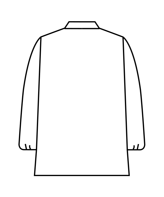 白衣コート児童用長袖[男女兼用][住商モンブラン製品] PER121-2