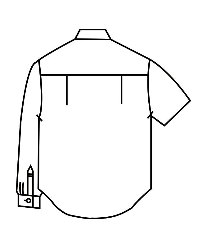 ブロードシャツ長袖[男女兼用][住商モンブラン製品] 2-521