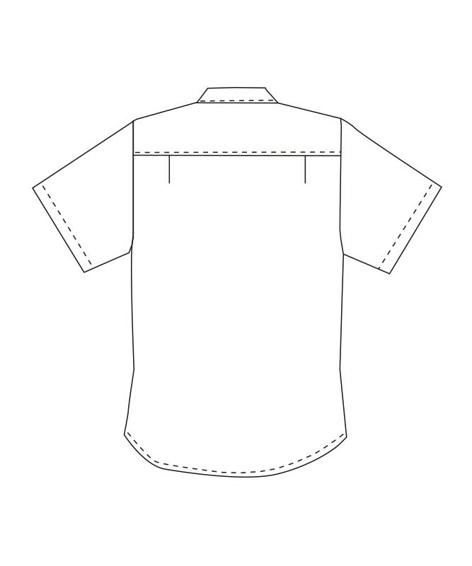 ボタンダウンシャツ半袖[男女兼用][チトセ製品] EP8236