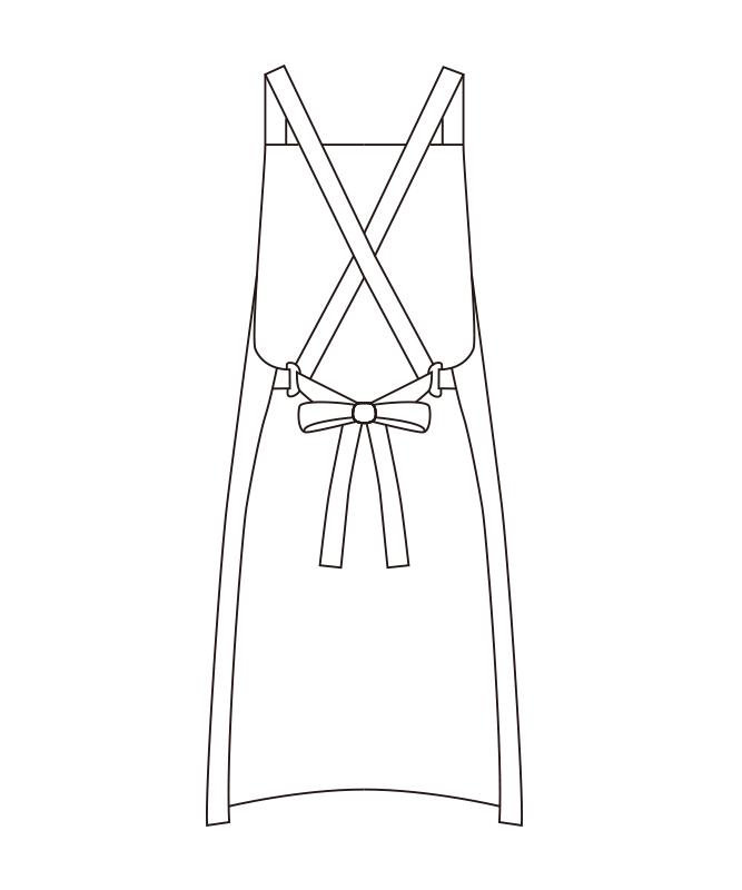 エプロン(ストライプ)[チトセ製品] T7932