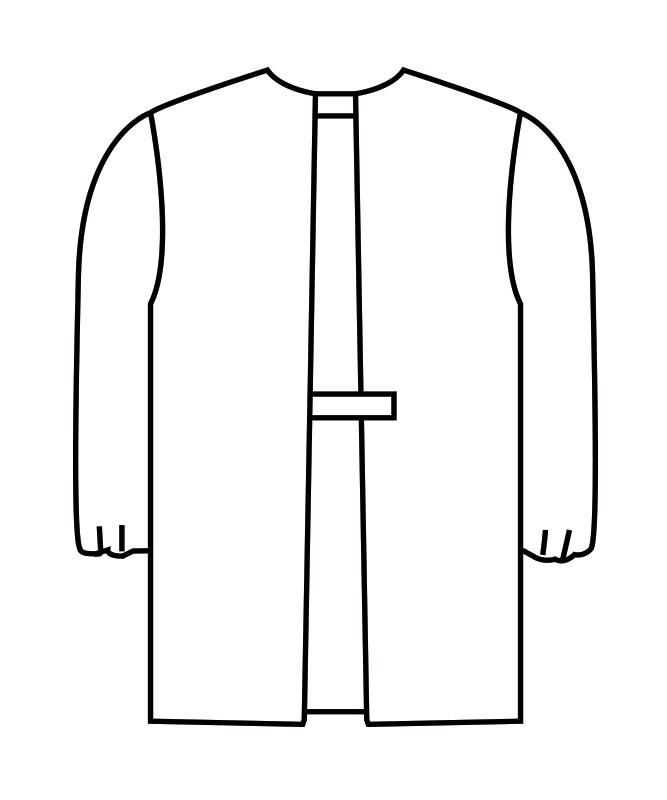 カッポウ型給食衣児童用長袖[男女兼用][住商モンブラン製品] PE401-2