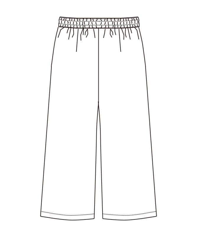 エプロン風和風パンツ[女子][チトセ製品] DN8504