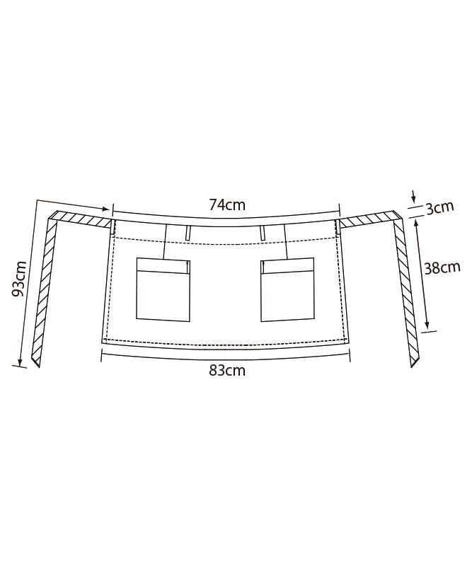 サロンエプロン[KAZEN製品] APK158