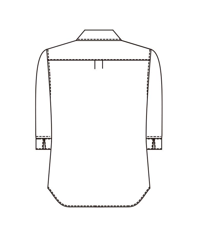 メンズシャツ七分袖[KAZEN製品] 614