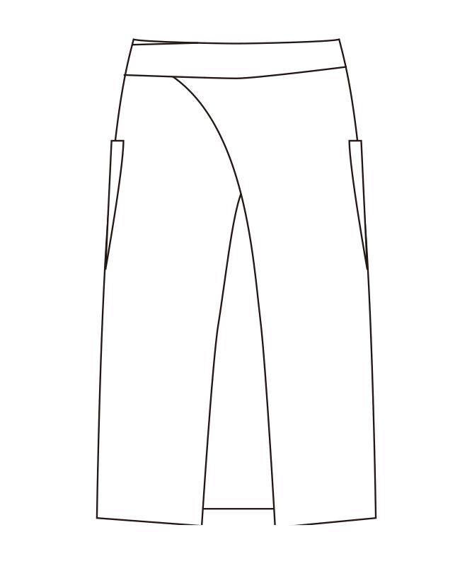 エプロン(ストライプ)[チトセ製品] T7934