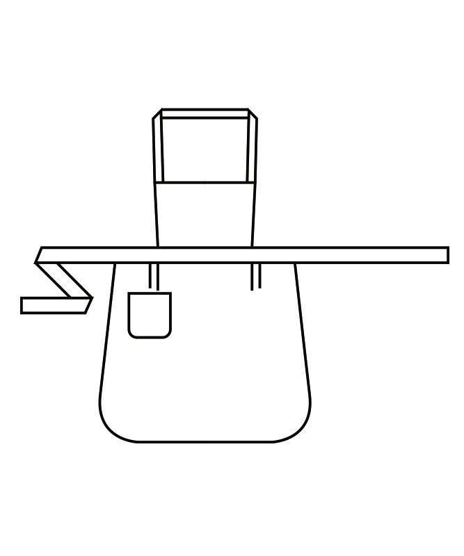 胸あてエプロン児童用[男女兼用][住商モンブラン製品] PE501-2