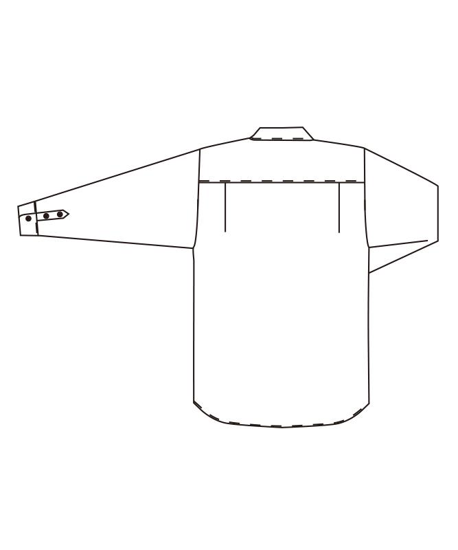 スタンドカラーシャツ長袖[男女兼用][チトセ製品] EP8239