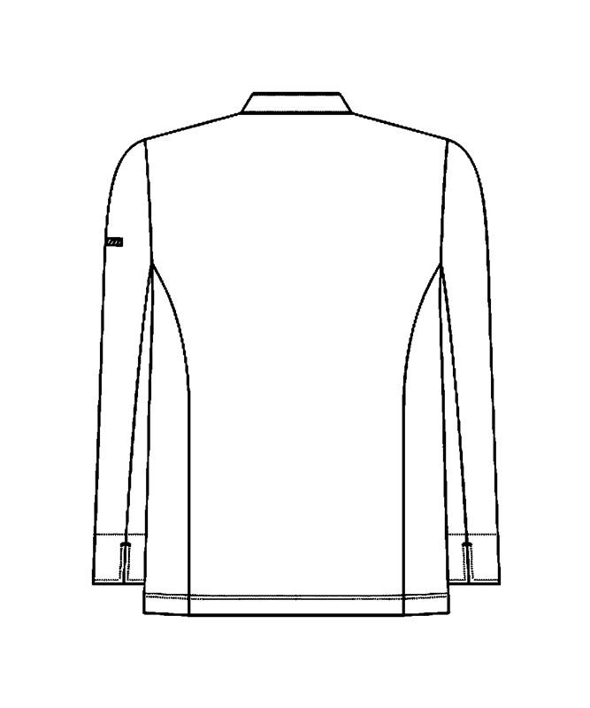 コックコート長袖[男女兼用][KAZEN製品] 616-4