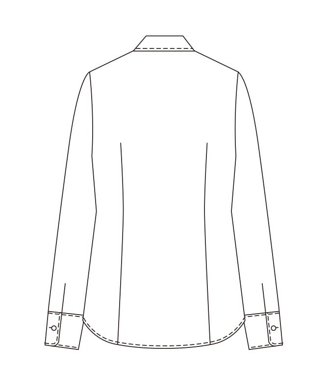 ワッフルブラウス長袖[チトセ製品] BL6814