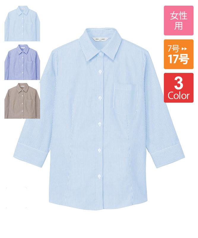 ブラウス七分袖(ストライプ)[チトセ製品] BL8370