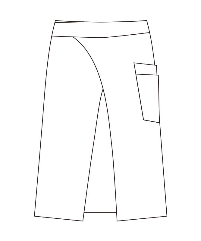 和風エプロン[男女兼用][チトセ製品] DN8507