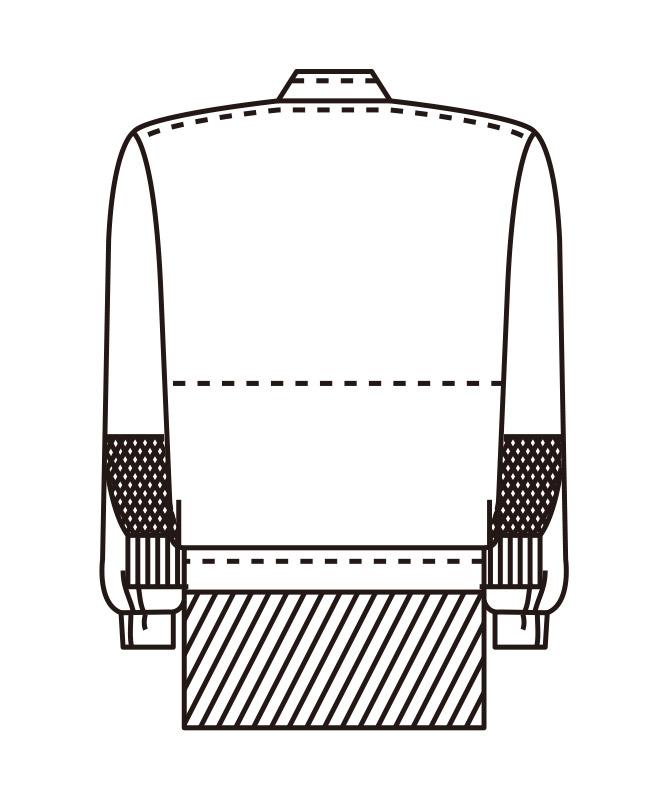 双糸ツイルジャンパー長袖[男女兼用][KAZEN製品] 443-40