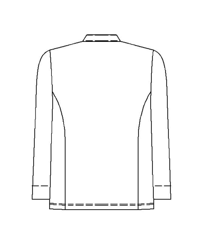 コックコート長袖[男女兼用][KAZEN製品] 617-4
