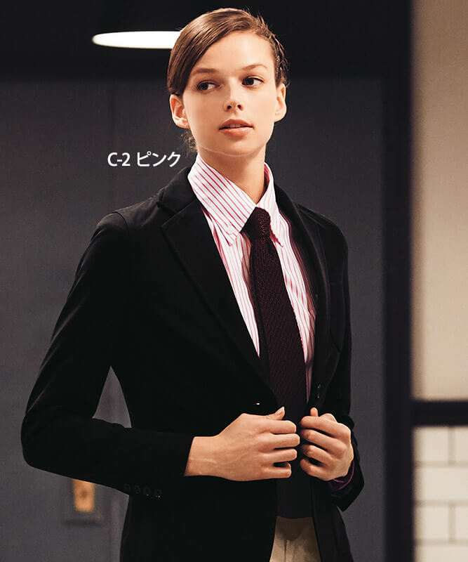 ボタンダウンシャツ長袖(ストライプ)[男女兼用][チトセ製品] EP8241