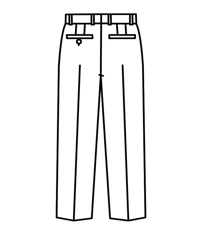 パンツメンズ(ノータック)[住商モンブラン製品] BT7601-1