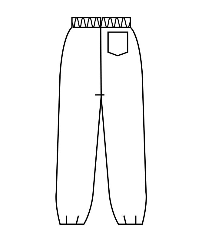 作務衣パンツレディス(半ゴム)[住商モンブラン製品] 7-33