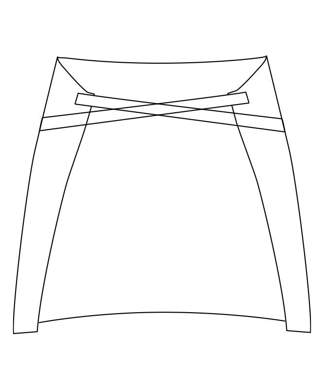 ヴィンテージツイルショートエプロン[男女兼用][チトセ製品] T8615