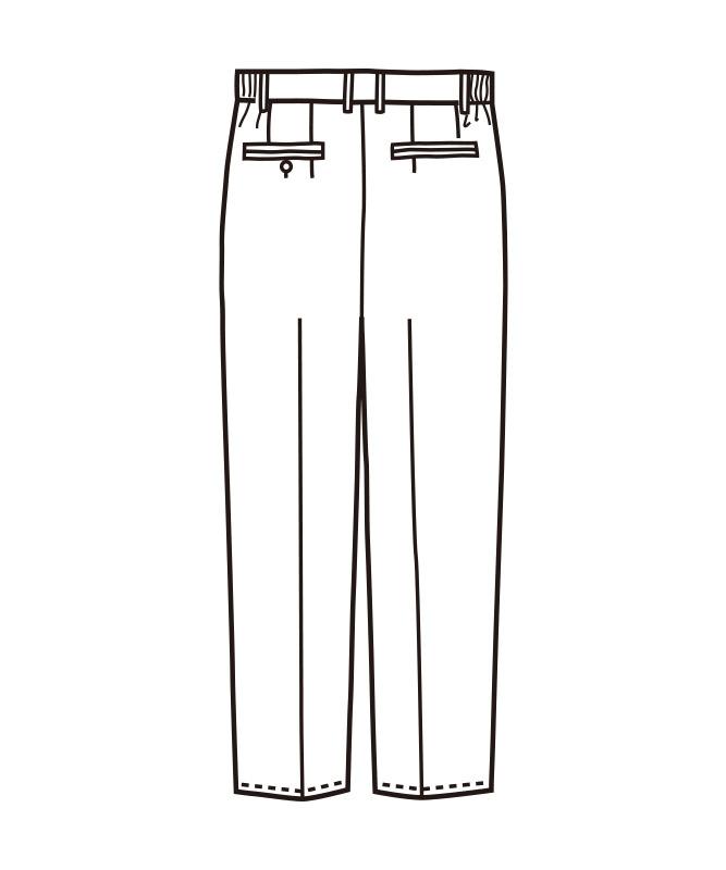 メンズスラックス(ツータック)[KAZEN製品] APK620
