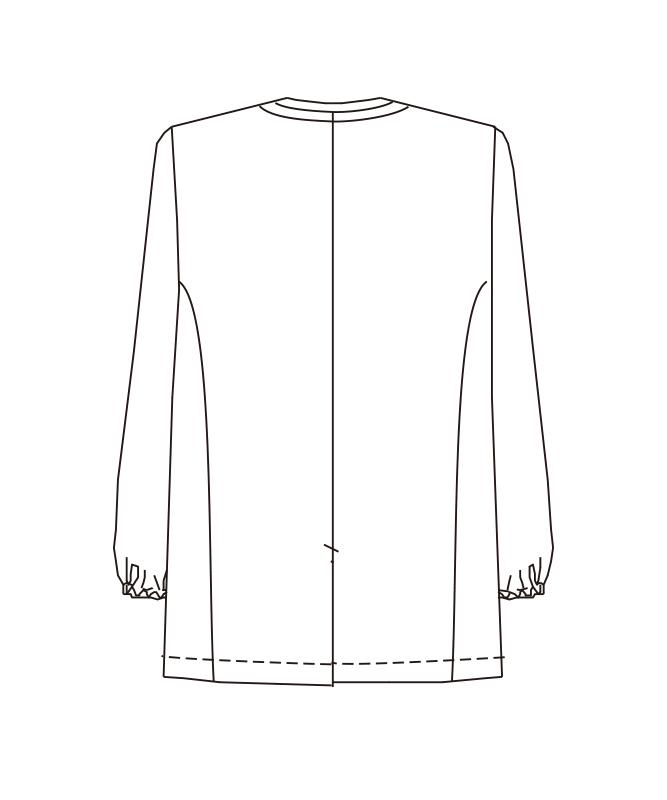 トリミングコート長袖[男子][チトセ製品] 1338