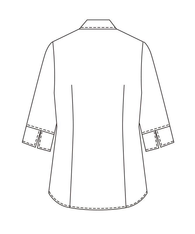 ワッフルブラウス七分袖[チトセ製品] BL6816
