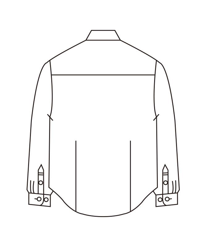 ストライプシャツレディス長袖[住商モンブラン製品] BV2201