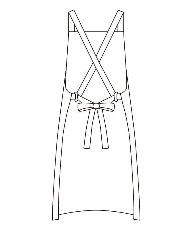 和風エプロン[男女兼用][チトセ製品] DN8509