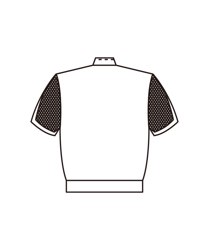 ブロードジャンパーメンズ半袖[KAZEN製品] 446-30
