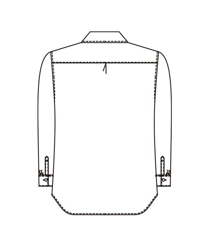 レディスシャツ長袖[KAZEN製品] 620