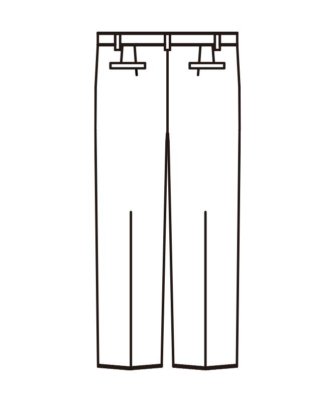 メンズスラックス(ノータック)[KAZEN製品] APK640-5